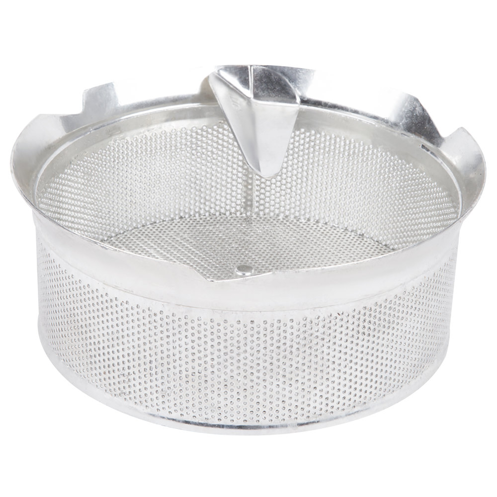 "Tellier M5015 1/16"" Perforated Replacement Sieve for # 5 Food Mill - Tin-Plated Steel"