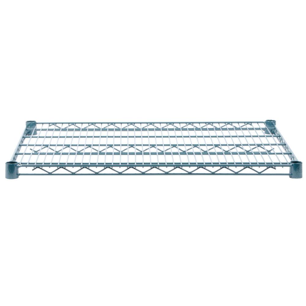 Regency 24 inch x 30 inch NSF Green Epoxy Wire Shelf