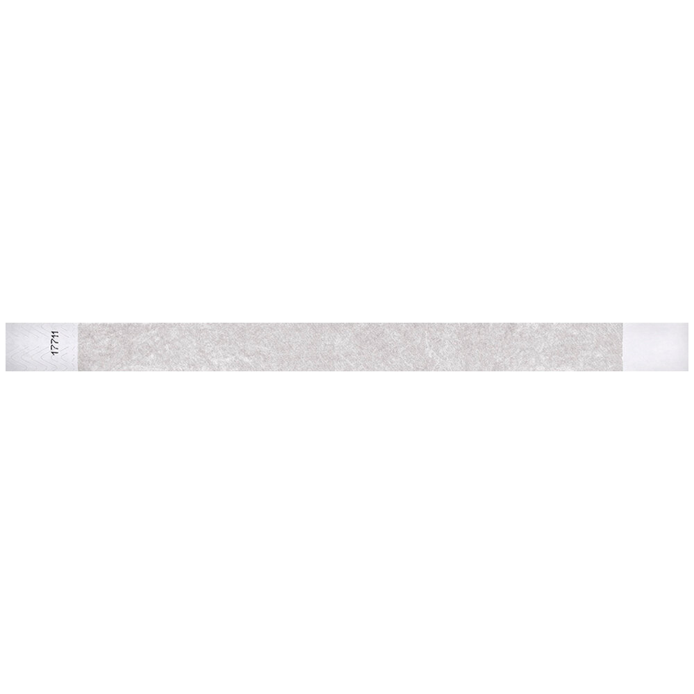 Carnival King Silver Disposable Tyvek® Wristband 3/4 inch x 10 inch - 500/Bag