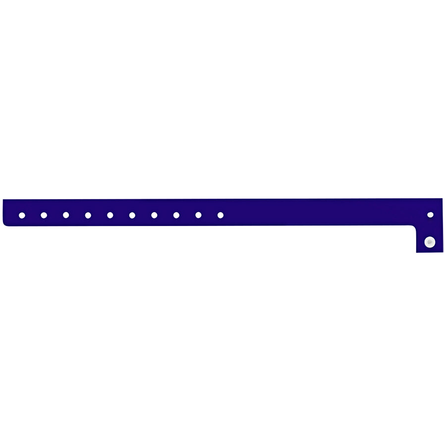 Carnival King Navy Disposable Plastic Wristband 5/8 inch x 10 inch - 500/Box