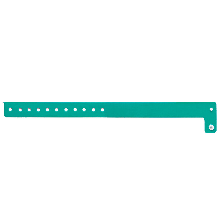 Carnival King Teal Disposable Vinyl Wristband 3/4 inch x 10 inch - 500/Box