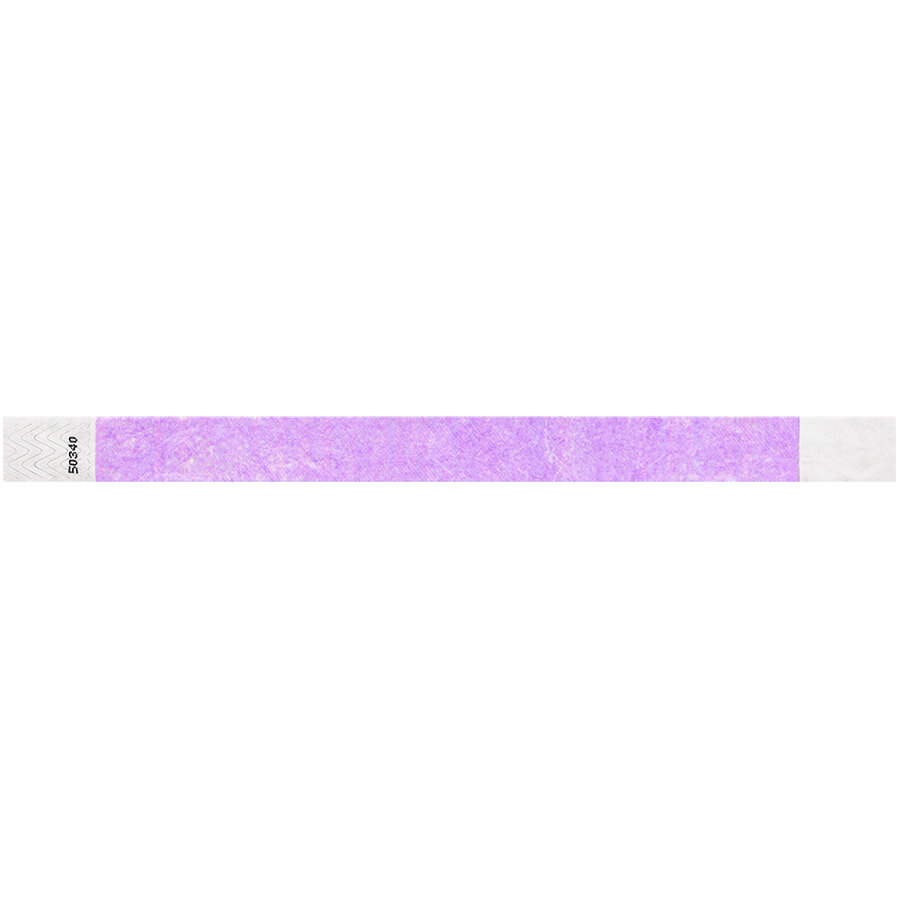 Carnival King Light Purple Disposable Tyvek® Wristband 3/4 inch x 10 inch - 500/Bag