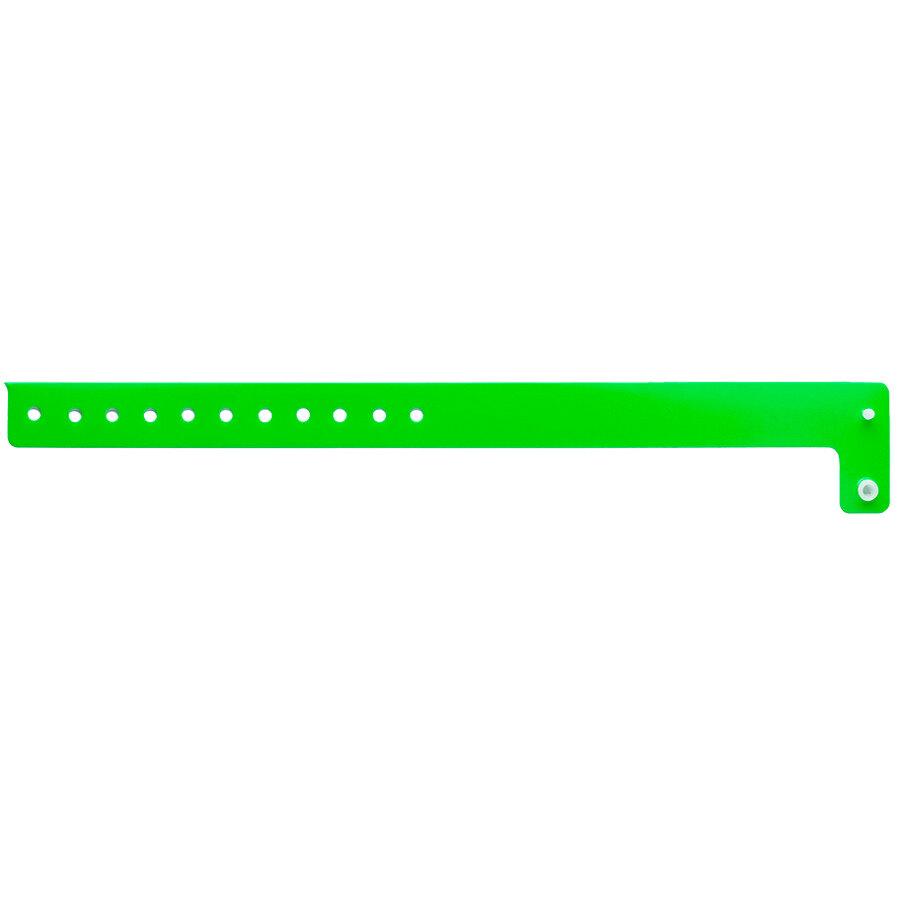 Carnival King Neon Green Disposable Vinyl Wristband 3/4 inch x 10 inch - 500/Box