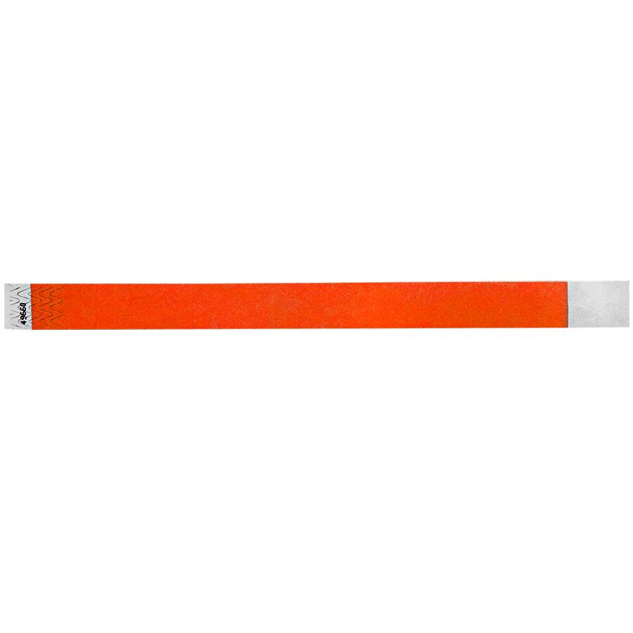 Carnival King Pumpkin Disposable Tyvek® Wristband 3/4 inch x 10 inch - 500/Bag