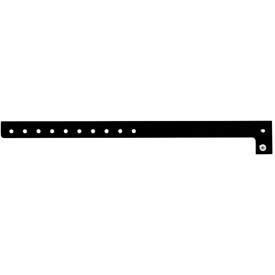 Carnival King Black Disposable Plastic Wristband 5/8 inch x 10 inch - 500/Box