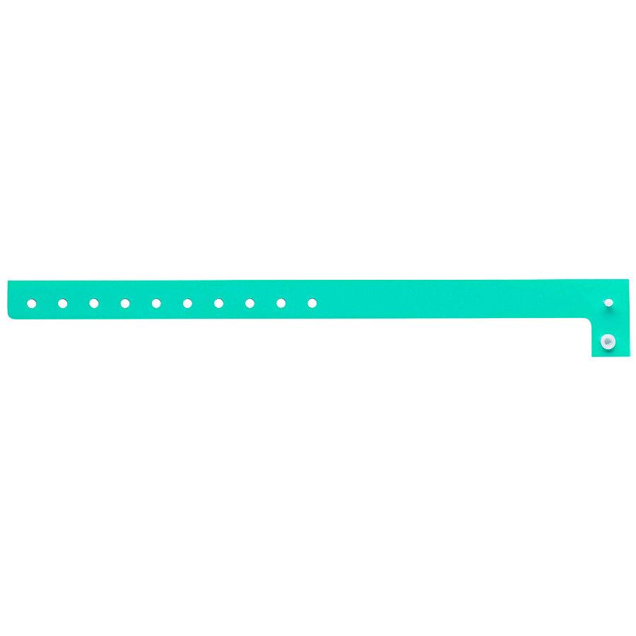 Carnival King Aqua Disposable Plastic Wristband 5/8 inch x 10 inch - 500/Box