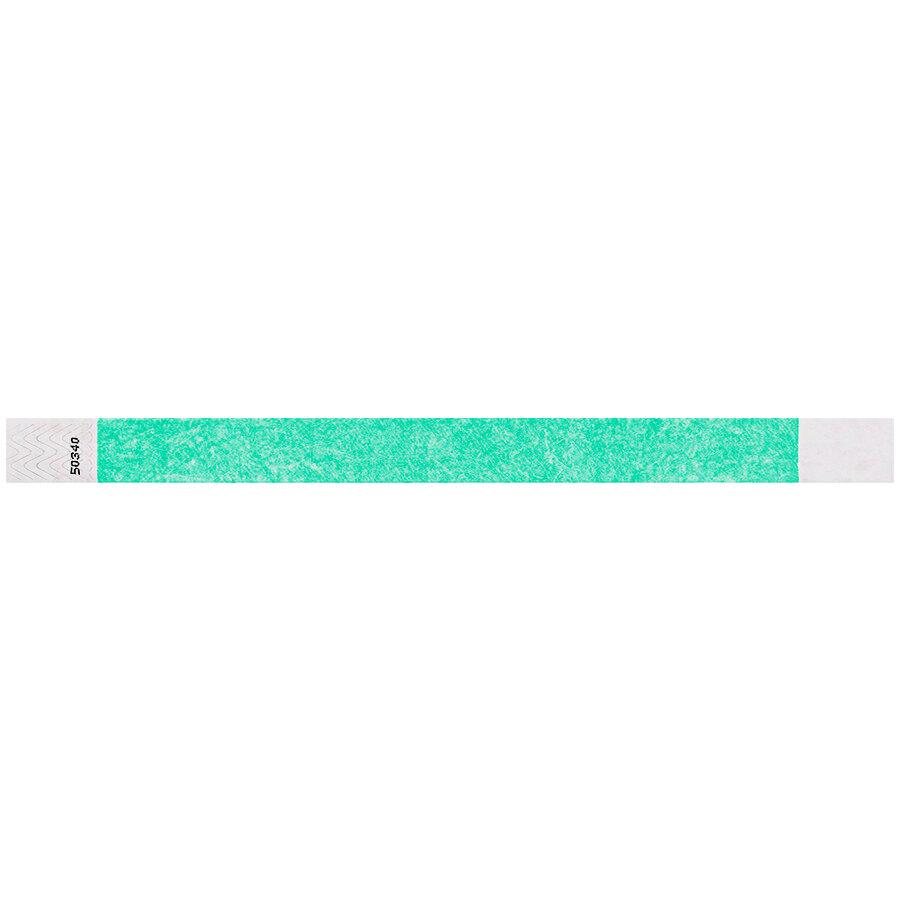 Carnival King Aqua Disposable Tyvek® Wristband 3/4 inch x 10 inch - 500/Bag