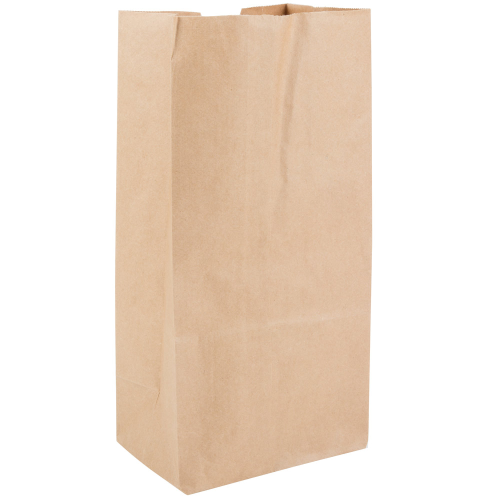 Duro Bulwark Extra Heavy-Duty 8 lb. Brown Paper Bag - 250/Bundle