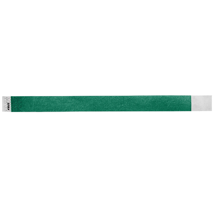 Carnival King Teal Disposable Tyvek® Wristband 3/4 inch x 10 inch - 500/Bag