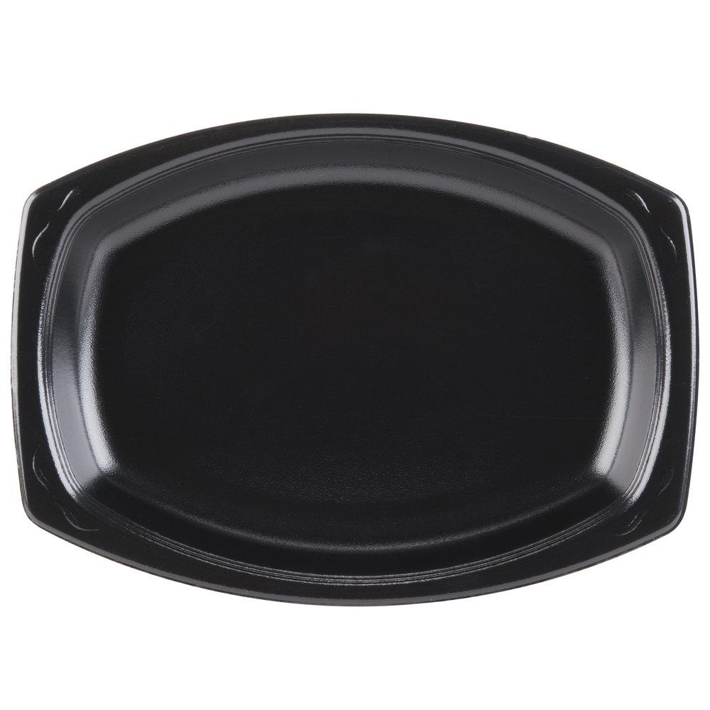 Genpak Lam79 3l Elite 9 Quot X 7 Quot Black Laminated Foam Platter