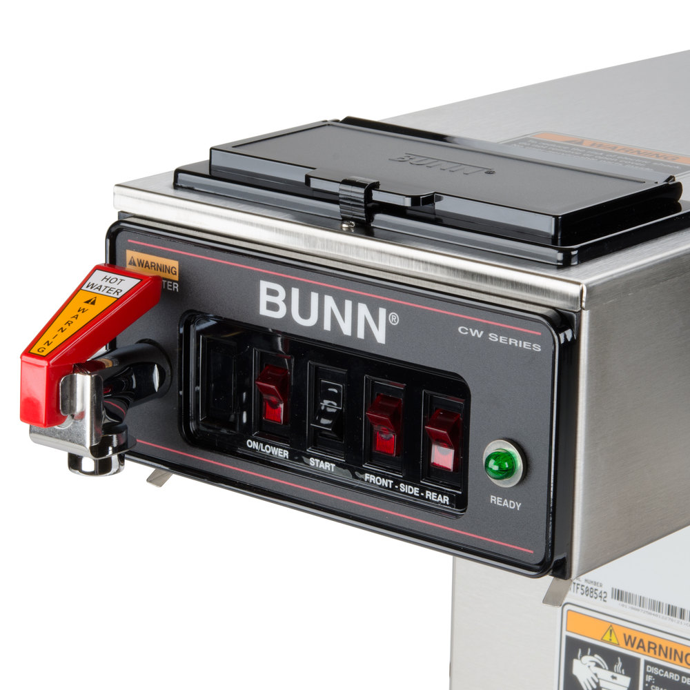 Bunn CWTF15-3 12 Cup Automatic Coffee Brewer with 3 Lower Warmers & Hot Water Faucet - 120V ...