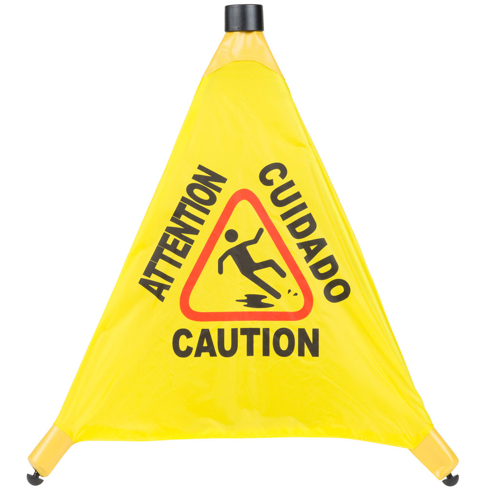 20 pop up safety cone wet floor sign. Black Bedroom Furniture Sets. Home Design Ideas