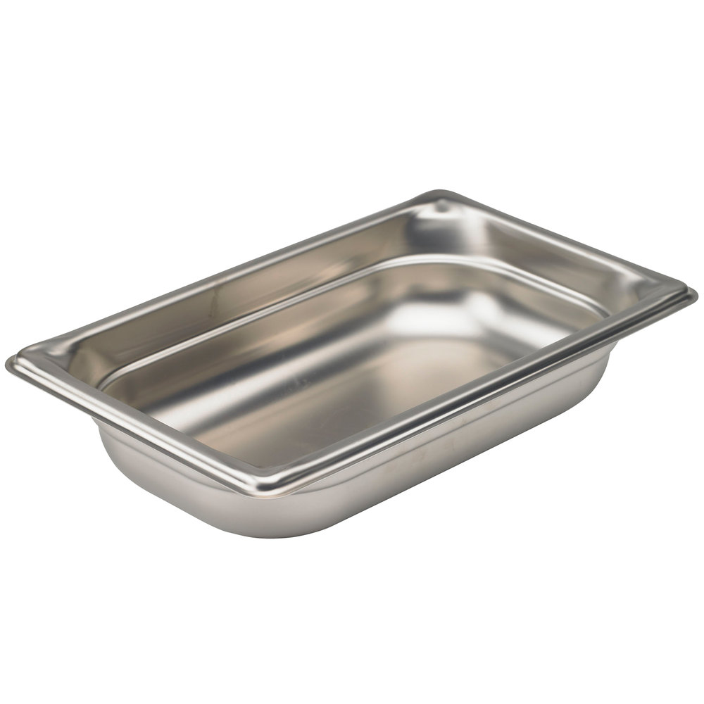 "Vollrath 90452 Super Pan 3® 1/4 Size Anti-Jam Stainless Steel Steam Table Pan - 2"" Deep"