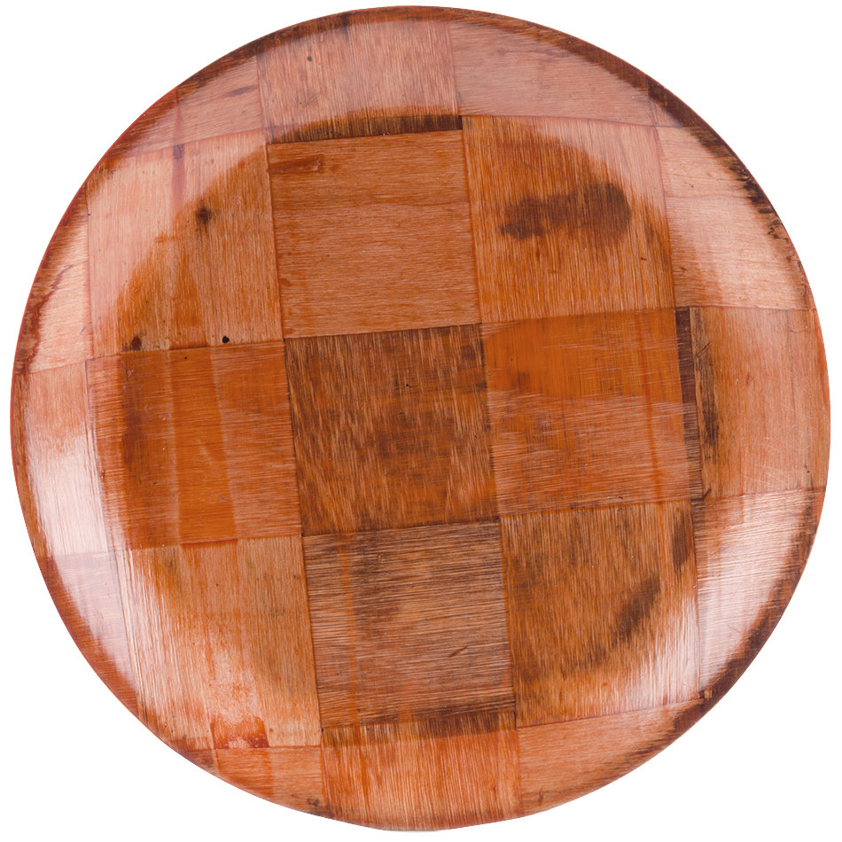 "10"" Woven Wood Plate - 12/Pack"