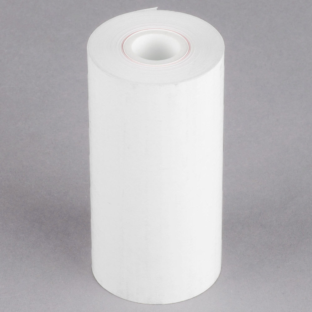 "4 1/4"" x 115' Thermal Cash Register POS Paper Roll Tape - 50/Case"