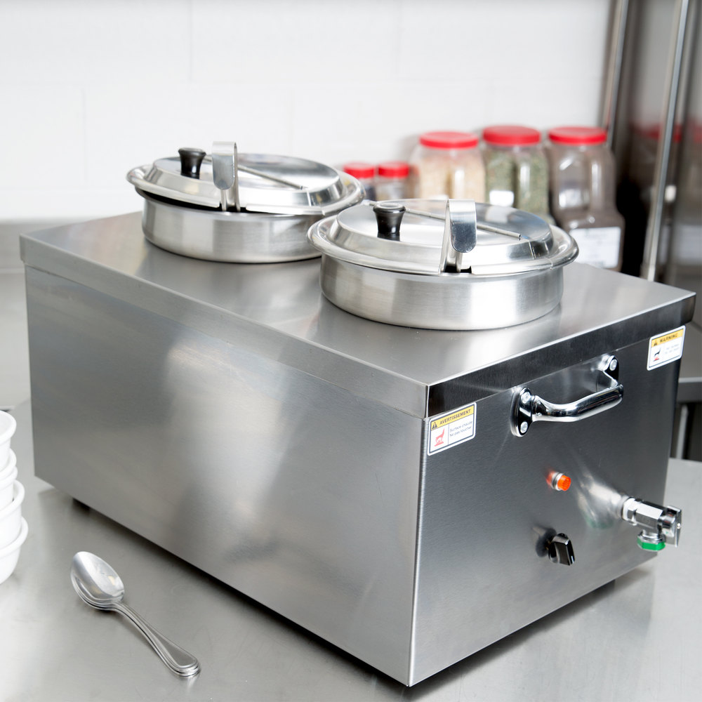 Countertop Food Warmer : ... Insulated Countertop Food Cooker / Warmer for Soup with Drain - 120V