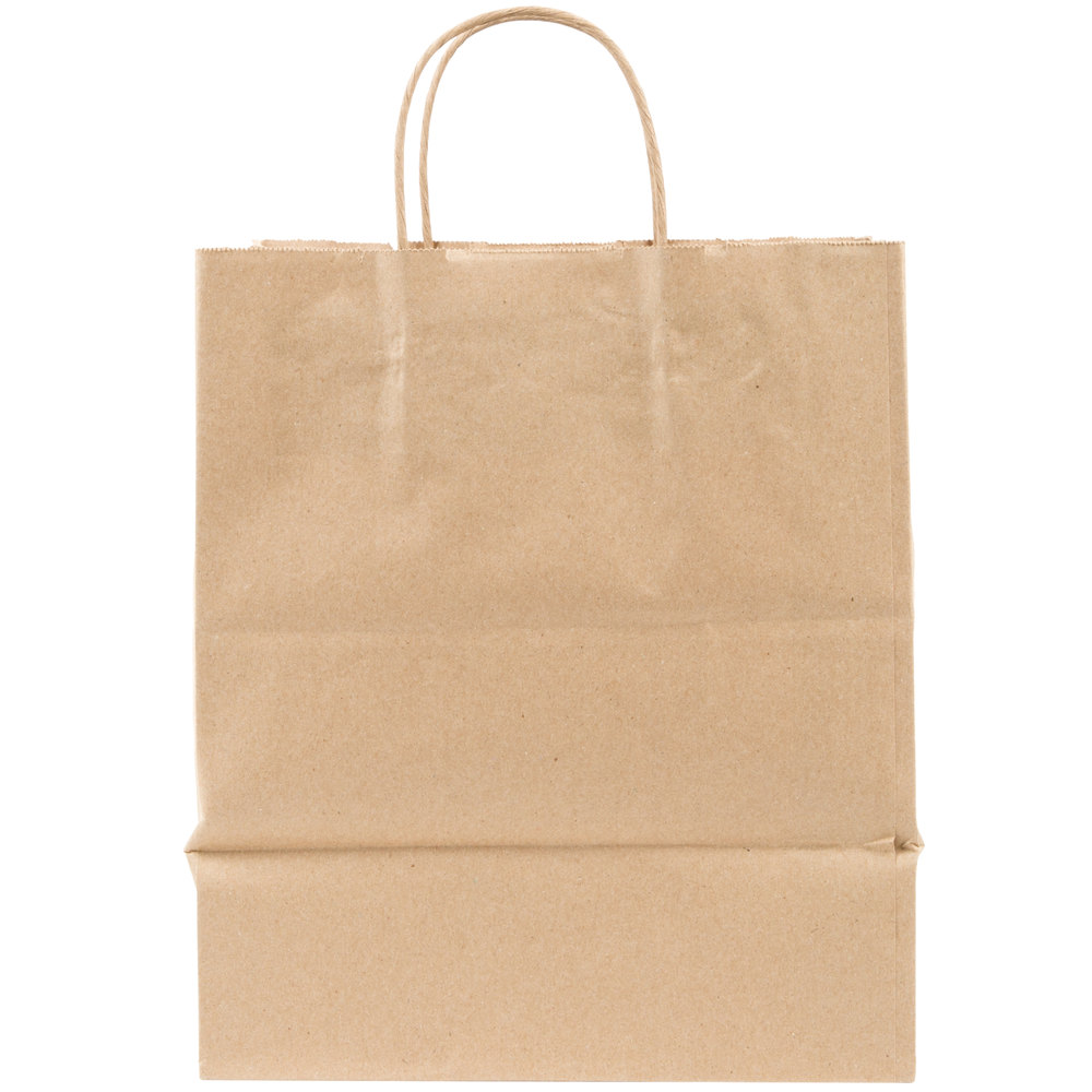 duro bistro kraft paper shopping bag with handles