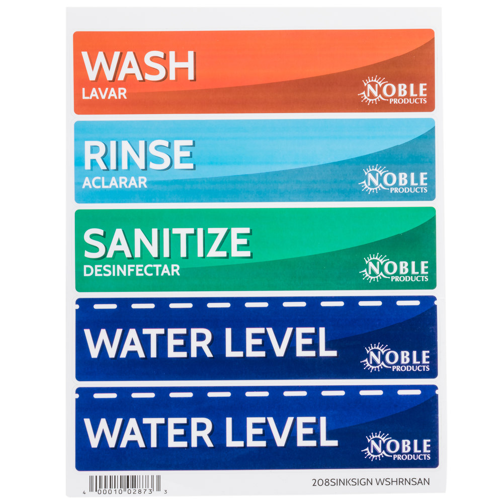 Noble Products Wash Rinse Sanitize And Water Level