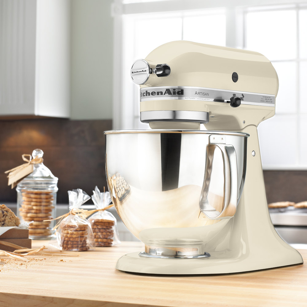 Kitchen Stores: KitchenAid KSM150PSAC Almond Cream Artisan Series 5 Qt
