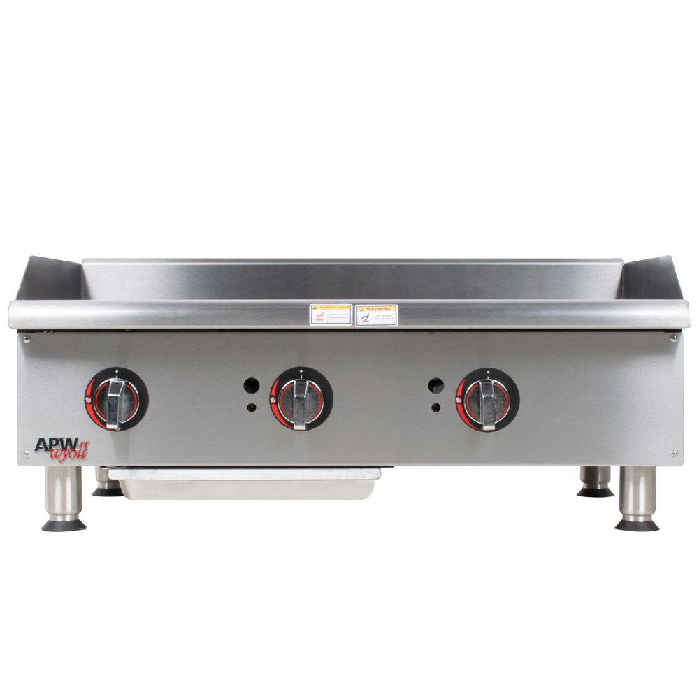"APW Wyott GGM-48i Champion 48"" Countertop Griddle with Manual Controls and 2 Safety Pilots - 100,000 BTU"