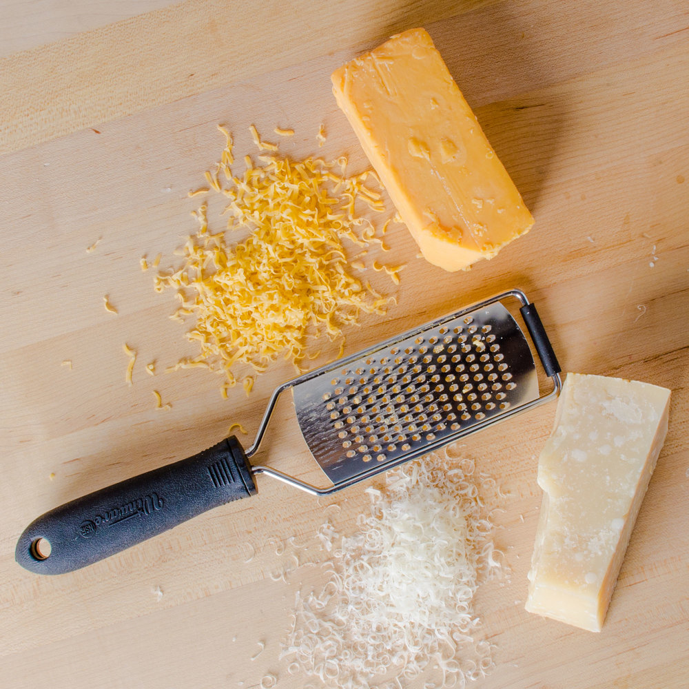 "12"" Cheese Grater with Rubber Handle and Small Holes"