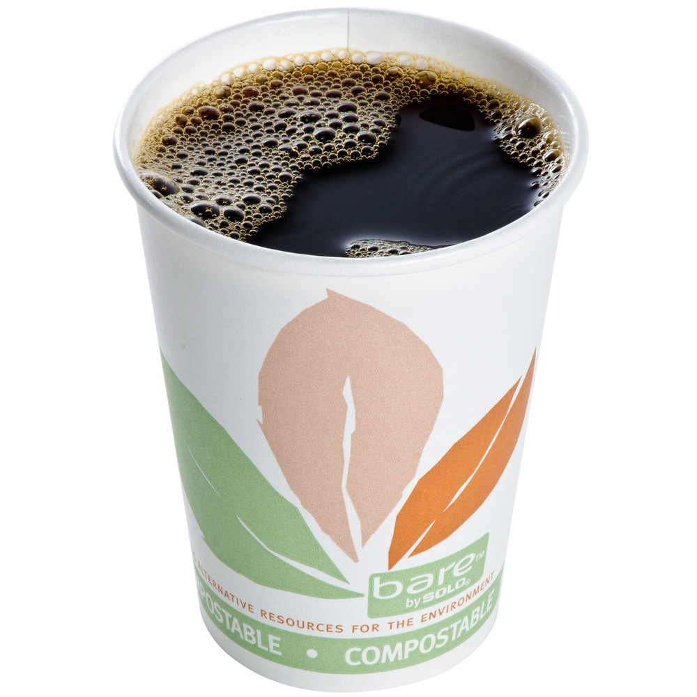 Dart Solo 412PLN-J7234 Bare Eco-Forward 12 oz. Paper Hot Cup - 1000/Case