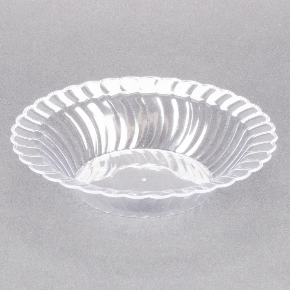 fineline flairware clear 212 cl 12 oz plastic bowl 18 pack. Black Bedroom Furniture Sets. Home Design Ideas