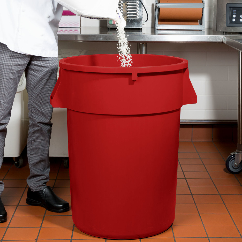 44 Gallon Red Trash Can