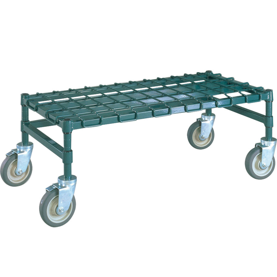 "Metro MHP55K3 48"" x 24"" x 14"" Heavy Duty Mobile Metroseal 3 Dunnage Rack with Wire Mat - 800 lb. Capacity"