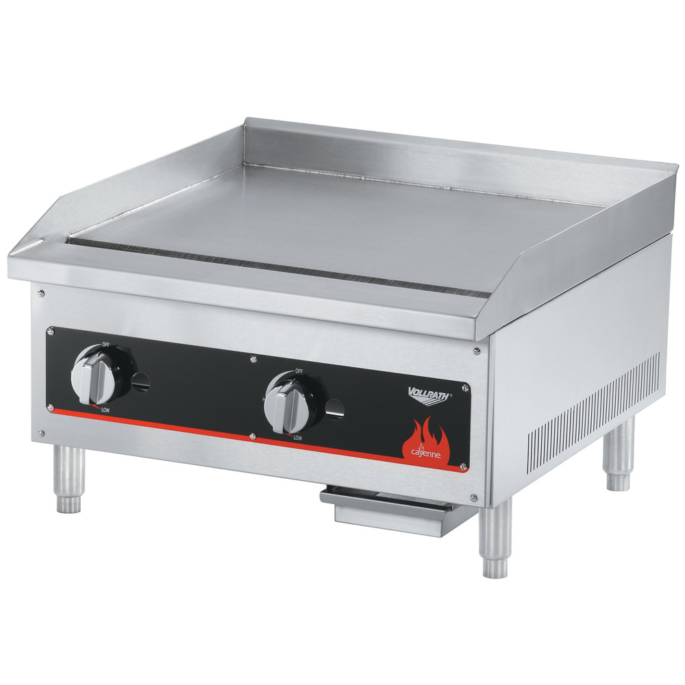 "Vollrath 40719 Cayenne 18"" Flat Top Gas Countertop Griddle - Manual Control"
