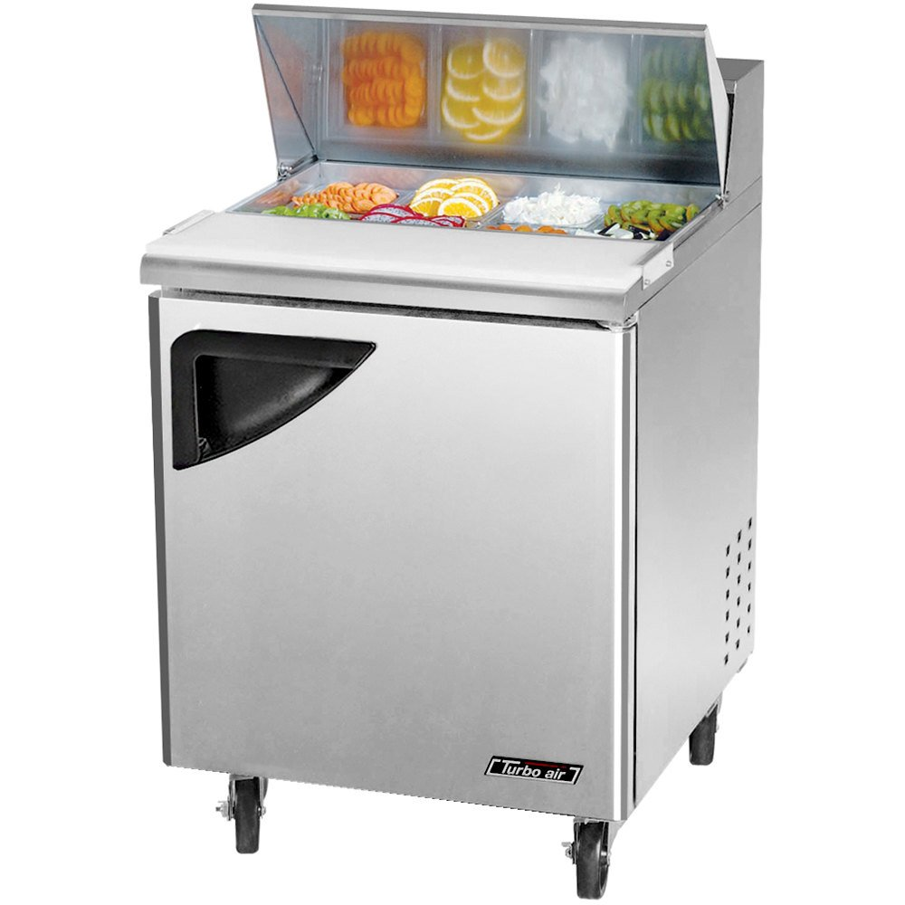 "Turbo Air TST-28SD 27"" Super Deluxe Refrigerated Sandwich / Salad Prep Table"