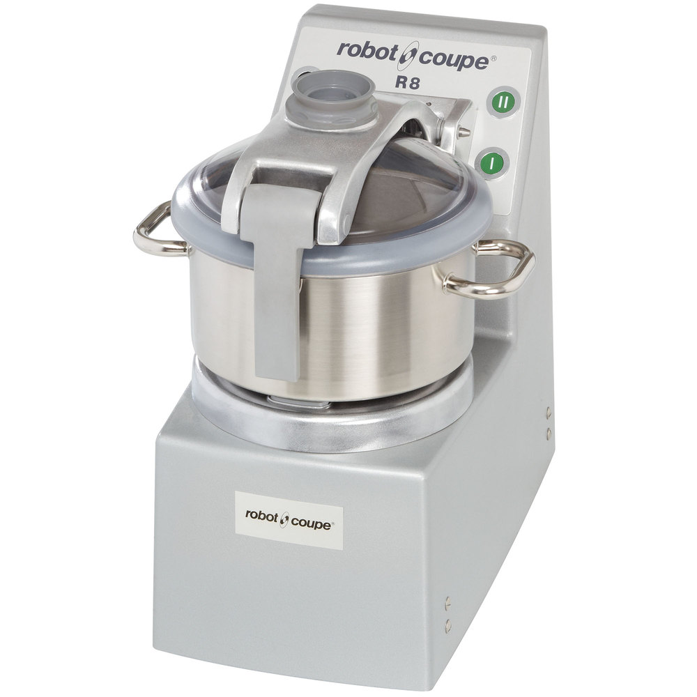 Robot Coupe R8 Vertical Food Processor with 8 qt. Stainless Steel Bowl - 208/240V, 3 Phase