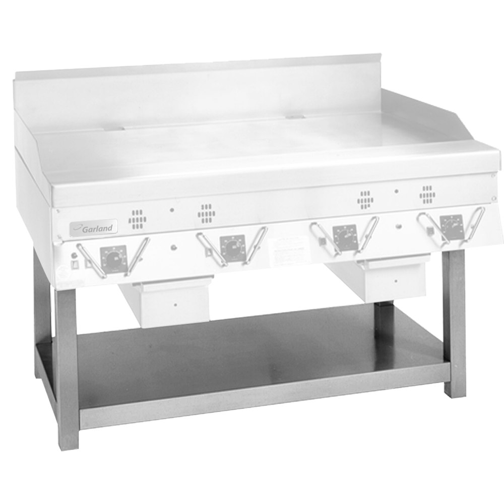 Garland SCG-48SS Stainless Steel Equipment Stand with Undershelf for CG-48R and ECG-48R Griddles