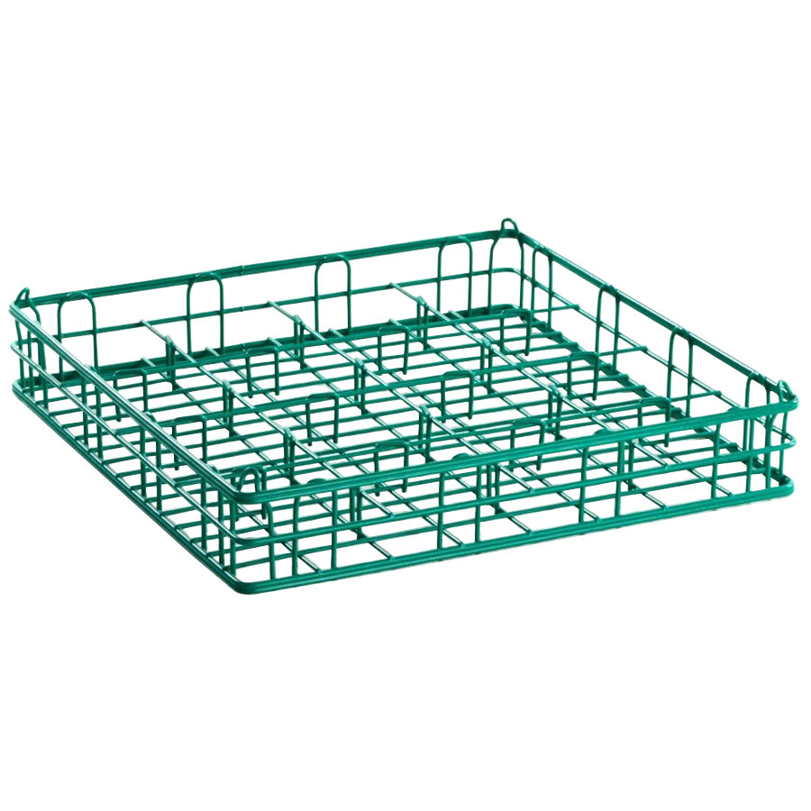 "16 Compartment Catering Glassware Basket - 4 1/2"" x 4 1/2"" x 5"" Compartments"