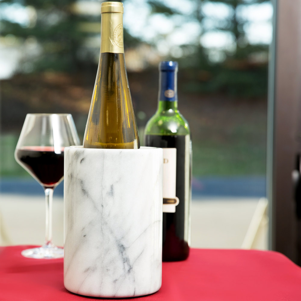 American Metalcraft MWC57 White Marble Wine Cooler