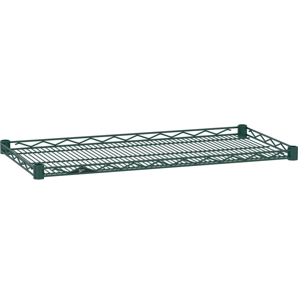 "Metro HDM2424-DHG Super Erecta Hunter Green Drop Mat Wire Shelf - 24"" x 24"""