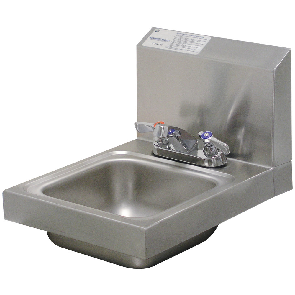 Advance Tabco 7-PS-22 Space Saving Hand Sink with Deck Mount Faucet ...