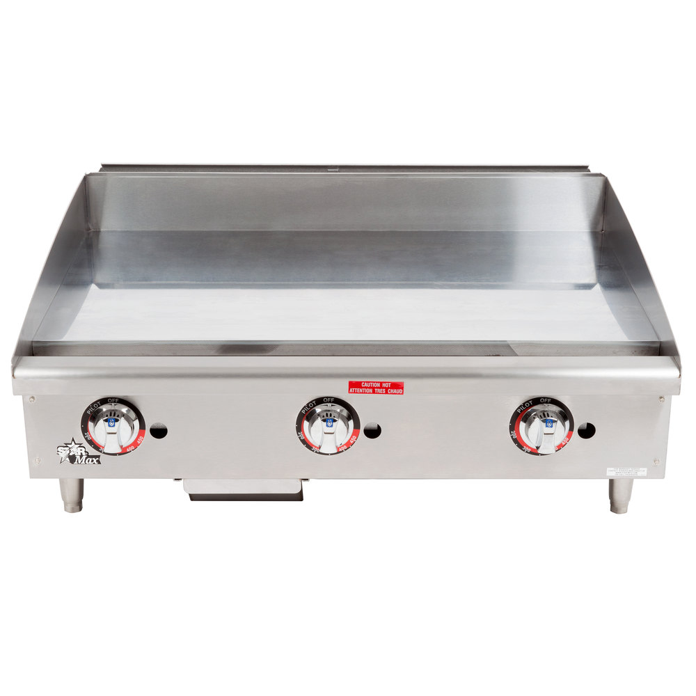 "Star Max 636TCHSF 36"" Countertop Gas Griddle with Chrome Plate and Thermostatic Controls - 84,900 BTU"