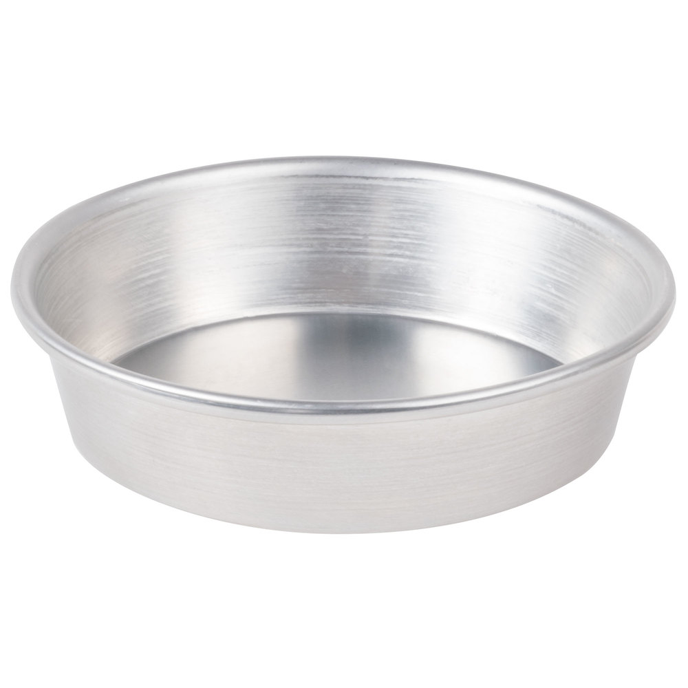 "American Metalcraft A9006 Tapered / Nesting Aluminum Pizza Pan - 5 1/2"" x 1 1/8"""
