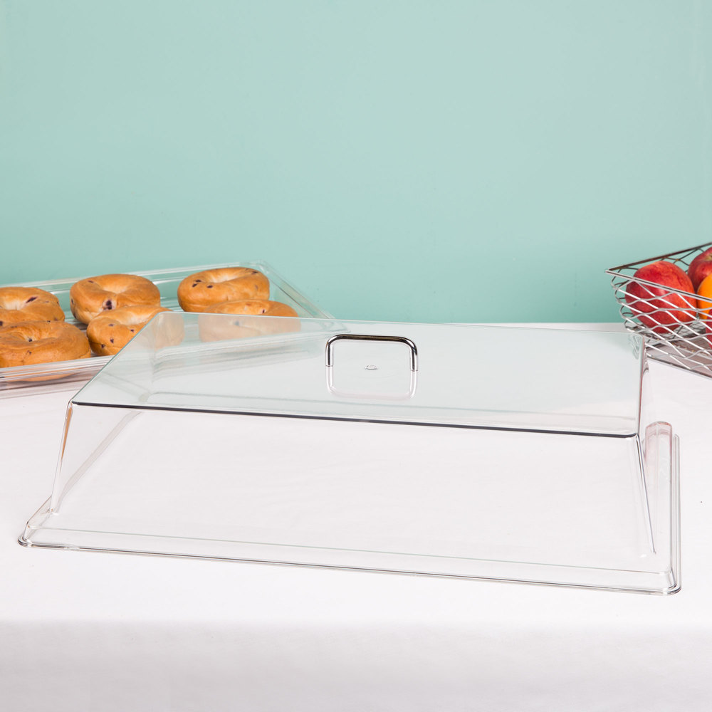 "Cambro RD1220CW Camwear 12"" x 20"" Clear Dome Display Cover"