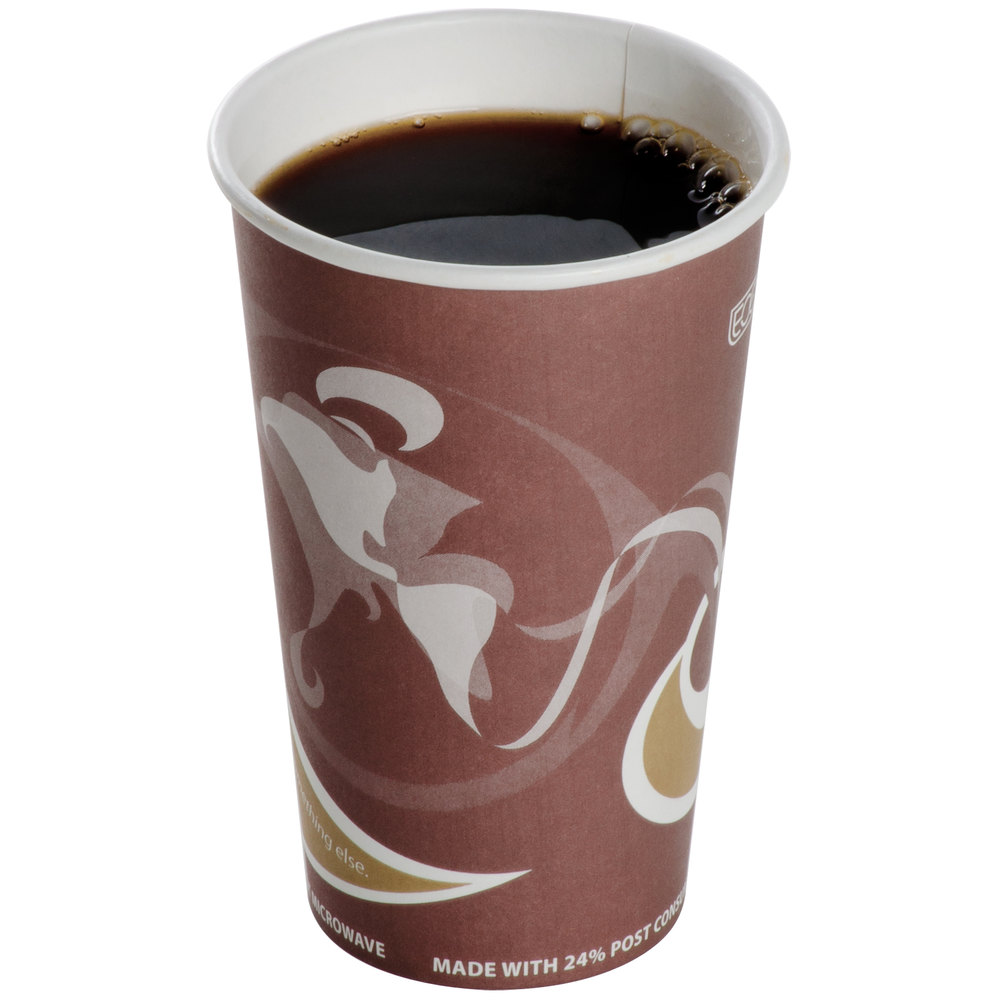 Eco Products EP-BRHC16-EW Evolution World PCF 16 oz. Paper Hot Cup - 50/Pack