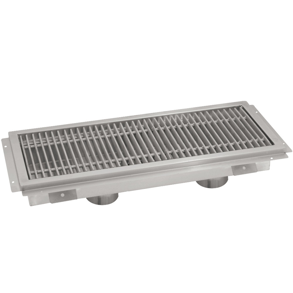 "Advance Tabco FTG-18120 18"" x 120"" Floor Trough with Stainless Steel Grating"
