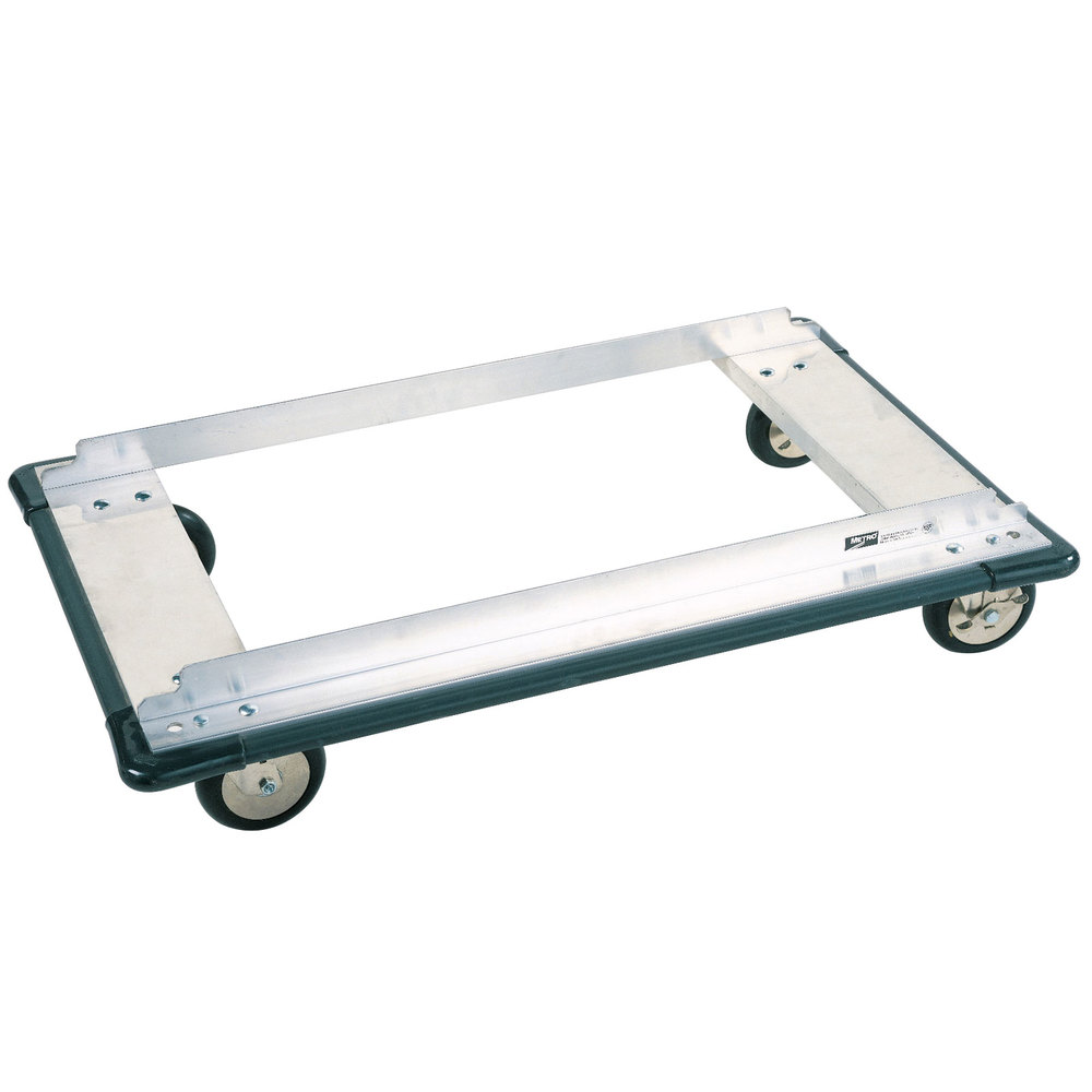 "Metro D55MN Aluminum Truck Dolly with Wraparound Bumper and Polyurethane Casters 24"" x 48"""