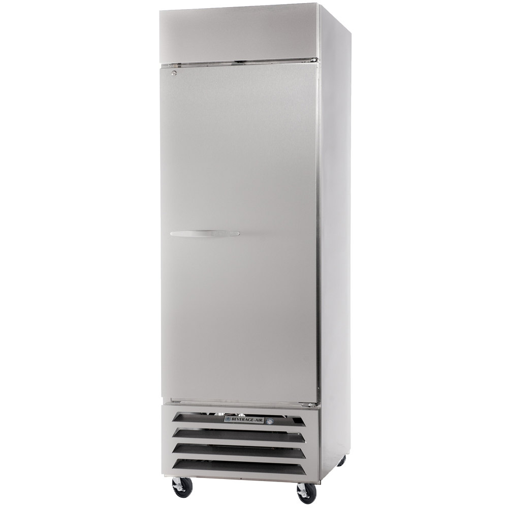 "Beverage Air HBF23-1-S 27"" Horizon Series One Section Solid Door Reach in Freezer - 23 cu. ft."