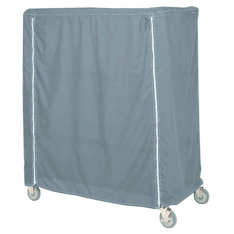 "Metro 21X60X74VCMB Mariner Blue Coated Waterproof Vinyl Shelf Cart and Truck Cover with Velcro® Closure 21"" x 60"" x 74"""