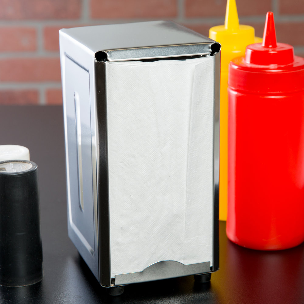 Tallfold Napkin Dispenser - Stainless Steel