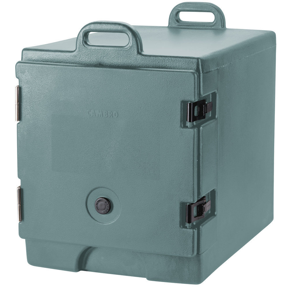 "Cambro 300MPC401 Slate Blue Camcarrier Pan Carrier with Handles - Front Load for 12"" x 20"" Food Pans"