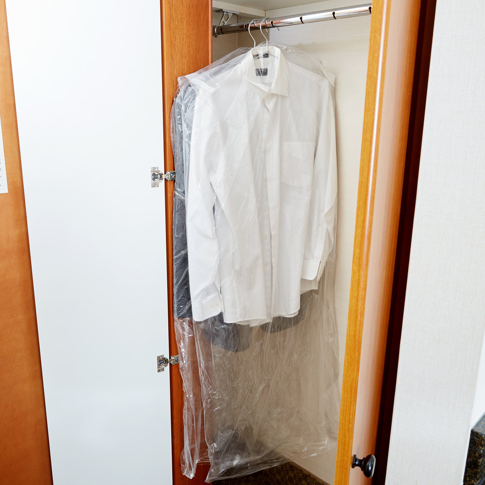 "54"" Dry Cleaning Poly Garment Bag on Roll - 360/Roll"