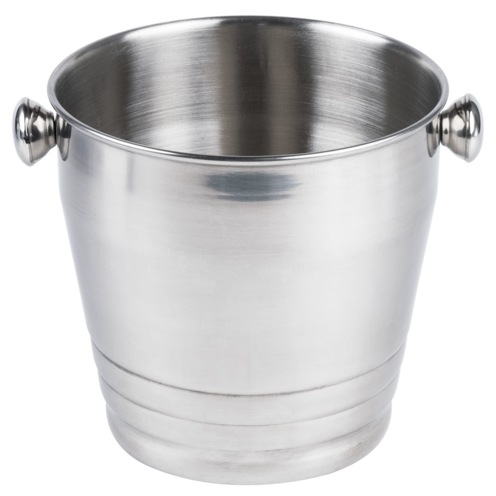 heavy weight stainless steel wine  champagne bucket   qt - main picture