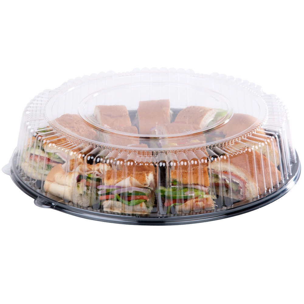 "WNA Comet A16PETDM Checkmate 16"" Clear Dome Lid - 25/Case"